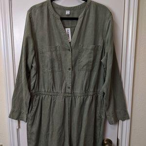 Old Navy Utility (Olive) Romper Short (New)/Sz XL